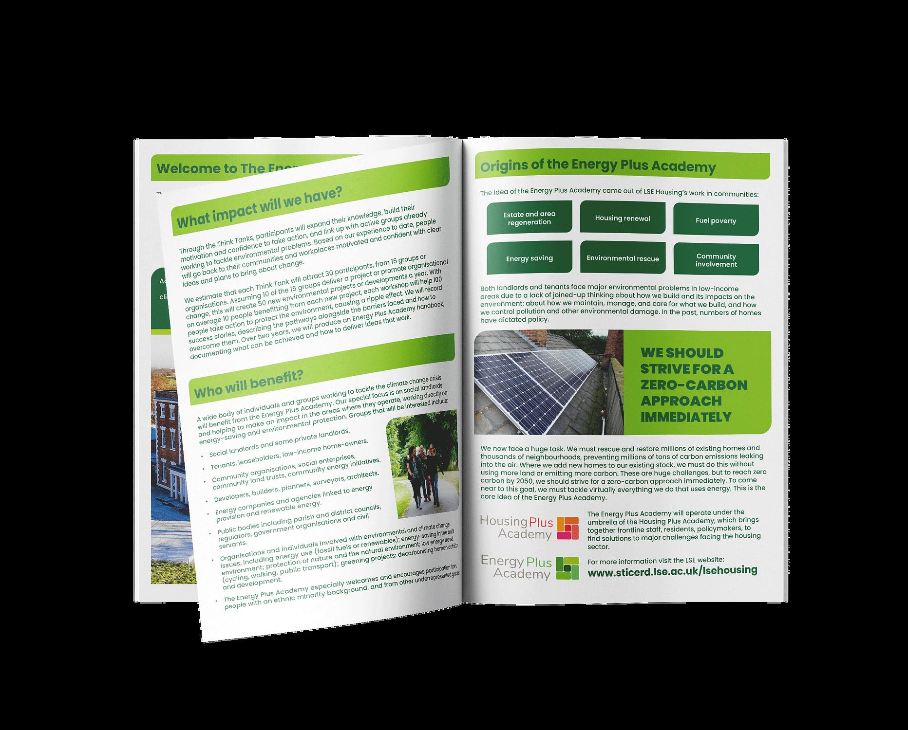 energy plus academy leaflet mockup